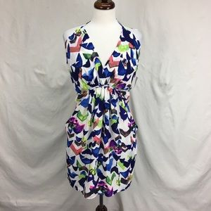 NWT Collective Concepts Geo Printed Chiffon Dress